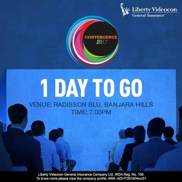 Network with our family tomorrow. Attend #Convergence2017 at Radisson Blu.