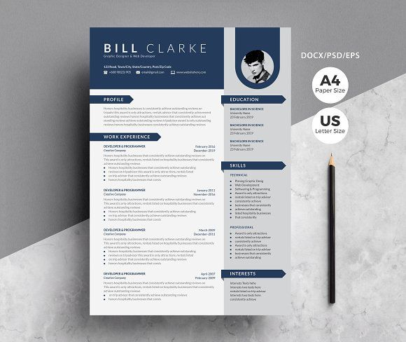 Word Resume Cover Letter By Whitegraphic On Creativemarket Cover Letter For Resume Lettering Resume Template