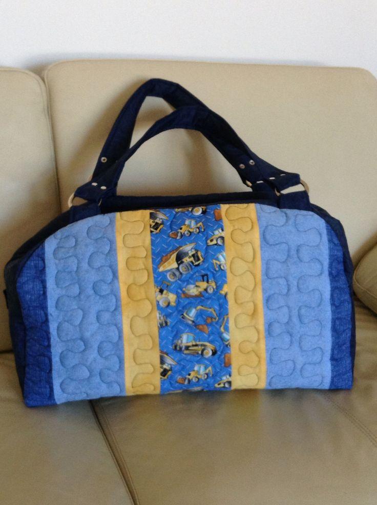 Bolsa De Tecido Feita Com Nós : Bolsa feita em nylon e tecidos de algod?o bolsas