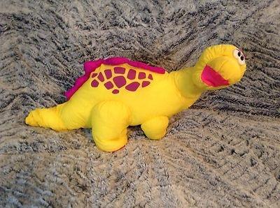 $35.00 http://www.ebay.com/itm/Vintage-1992-Fisher-Price-Dino-Roars-Yellow-Brontosaurus-Puffalump-Plush-Htf-/271193515002?pt=Stuffed_Animals_US=item3f2464a3fa