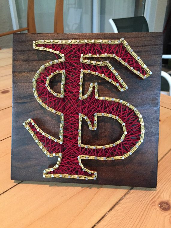 MADE TO ORDER – Florida State FSU String Art  Calling all FSU fans!! I got a little grief on Facebook for creating a UF board before FSU, so here it