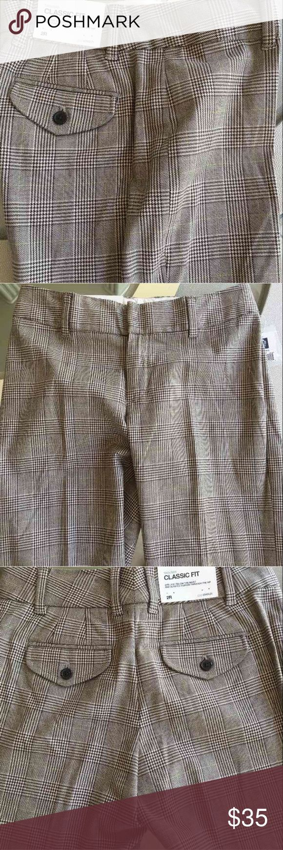 Gap trousers size 2R Classic fit. Brand new Pants Trousers