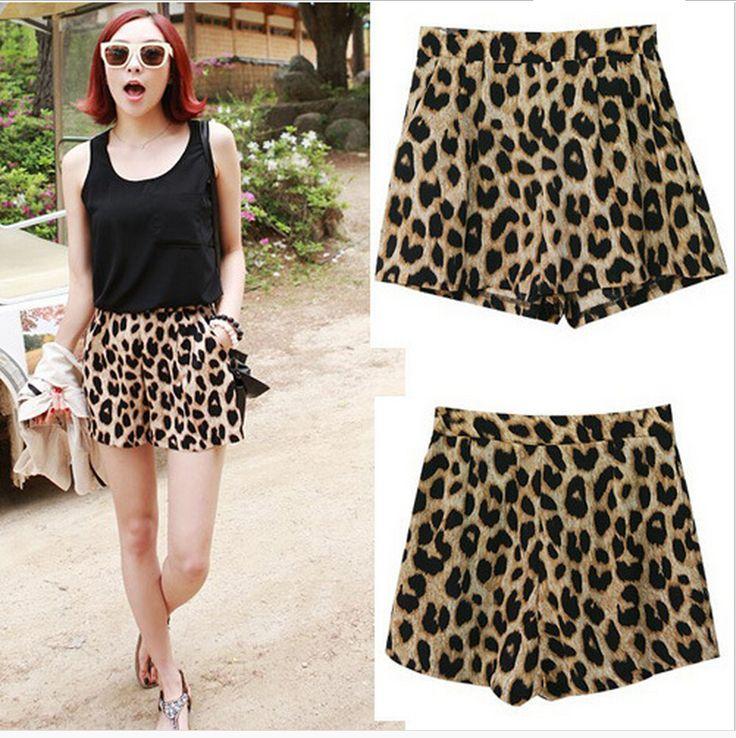 Aliexpress.com: Compre 2015 novos calções de moda Loose Women Leopard curto feminino ml grátis frete de confiança camisa curta fornecedores em Shanghai foreign trade company