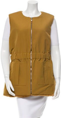 Trademark Fur-Lined Reversible Vest w/ Tags
