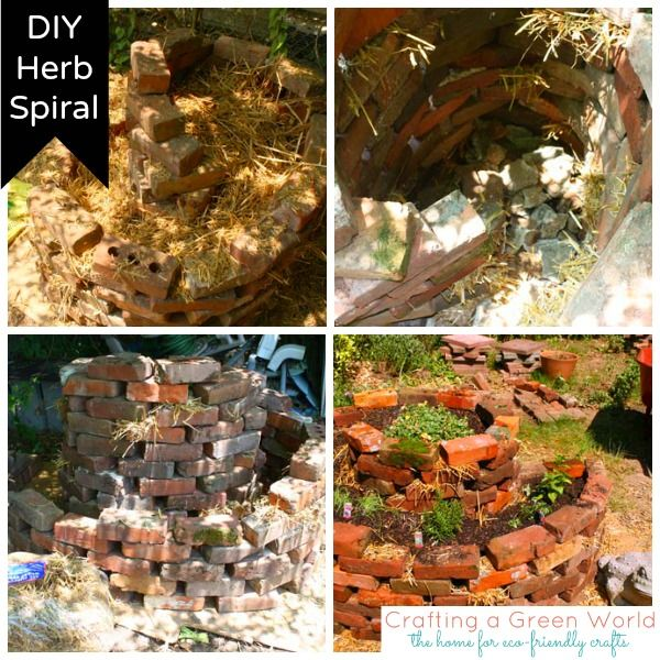 Are poor soil and constant yard debris impacting your gardening? Instead of the more common square garden bed, build an herb spiral planter with instructions from Crafting a Green World.
