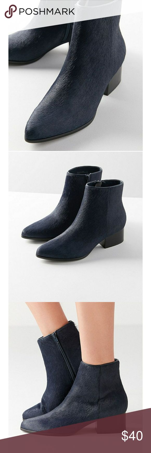 Calf hair pola boots Brand new boots!! Super slick! Chic! And fun... let me know if you have any questions. I'm on to offers   Size: us 7 Uk 5 EU: 38  Color: navy Urban Outfitters Shoes Ankle Boots & Booties