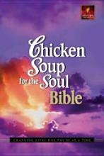 """Written in the easy-to-read New Living Translation, this book incorporates dozens of new and classic Chicken Soup( stories and hundreds of thought-provoking quotes from inspirational leaders and celebrities into the Bible.   """"The best resource to get you through this crazy world."""""""