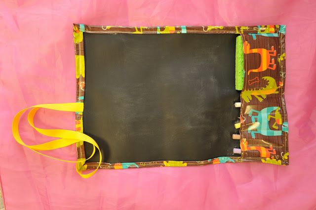 Chalkboard Placemat Tutorial. DIY. Maybe with fusible interfacing and cotton instead?