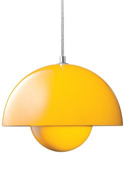 VP1 Yellow FlowerPot Pendant Lamp / designed by Verner Panton