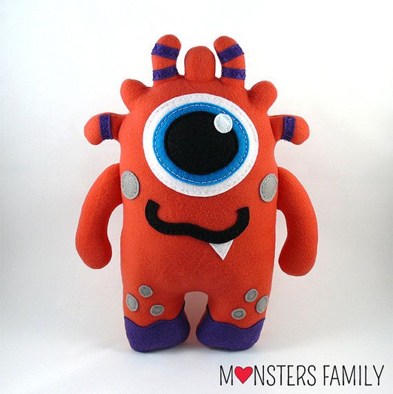 Hi, my name is Jimmy and I am a friendly Monster. I am coming in three sizes: - big size - about 18x12,5 inches (45x31cm), - medium size - about