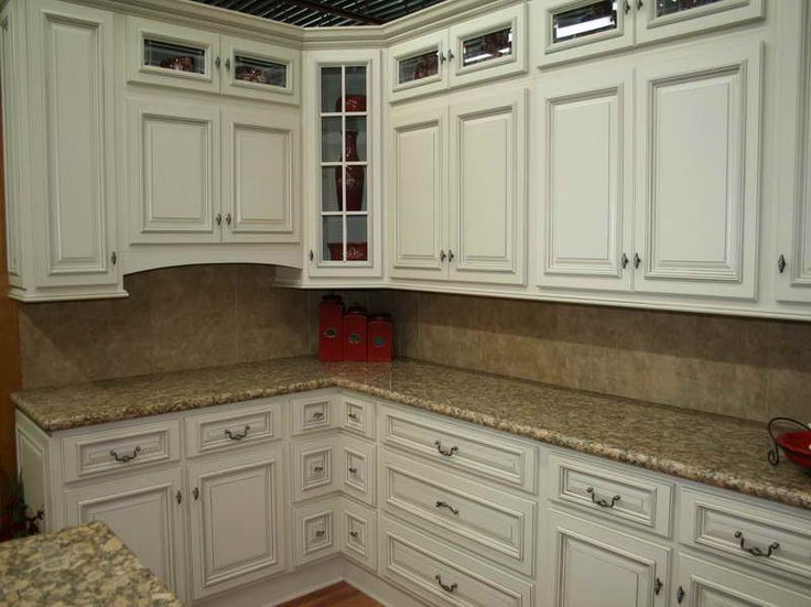Best color for granite countertops and white bathroom for Kitchen colors with off white cabinets