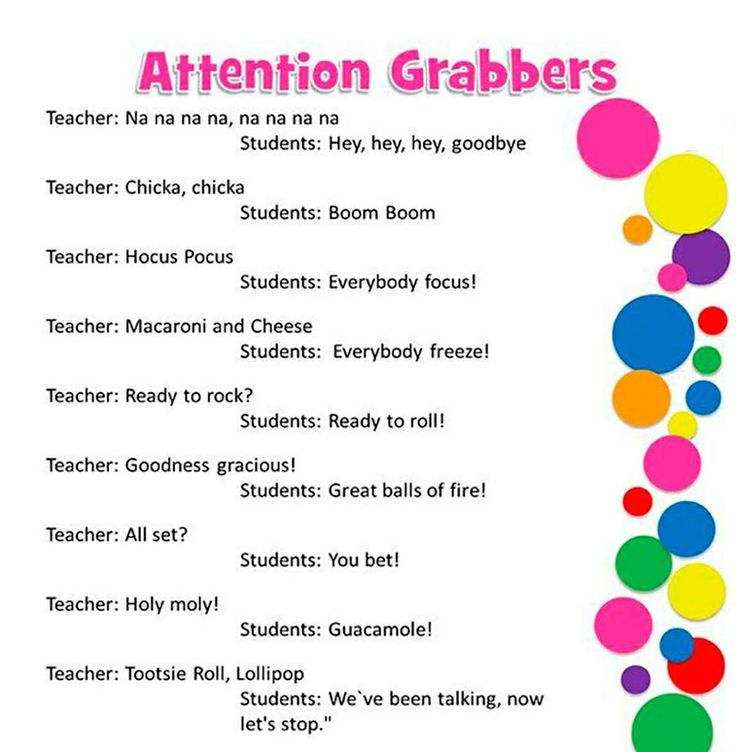 Cheers For Elementary Classrooms ~ Best images about classroom chants attention getters on