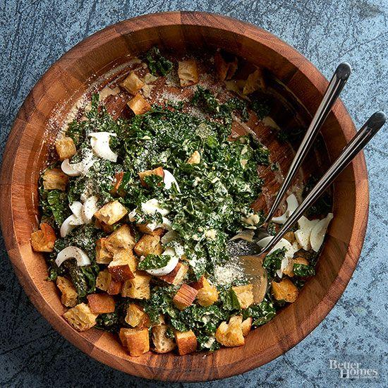October 2015 Recipes Gardens Kale Caesar Salad And