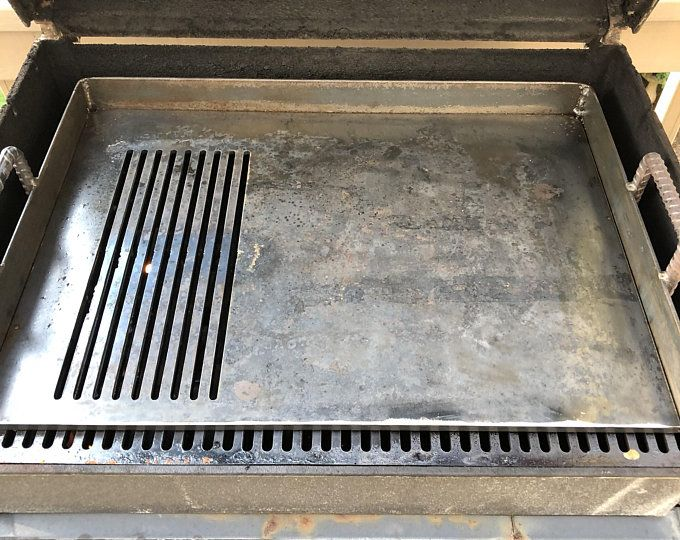 Custom Barbecue Grill Removable Griddle Insert 1 4 Inch Steel Plate Grilling Bbq Grill Custom Grill