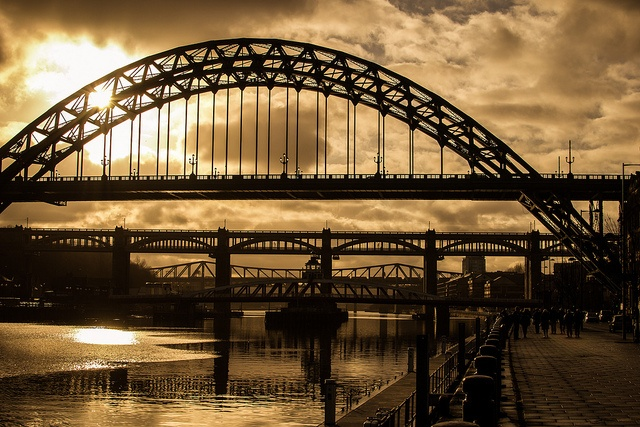 Old Bridges by Demonsub, via Flickr. Newcastle upon Tyne, England.