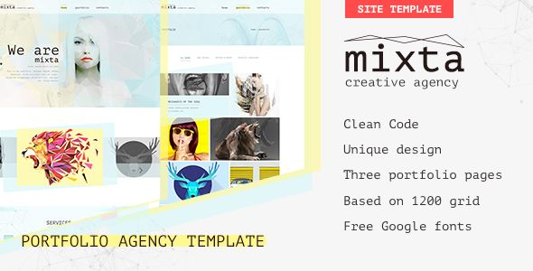 Mixta — Creative Agency, Portfolio PSD Template have an awesome design for...