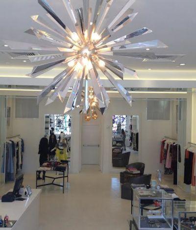 Chic Lighting For Our Dash Miami Kourtney Kardashian Inertia Crystal And Stainless 48 Wide Corbett Pendant Light Hollywood Glam Decor