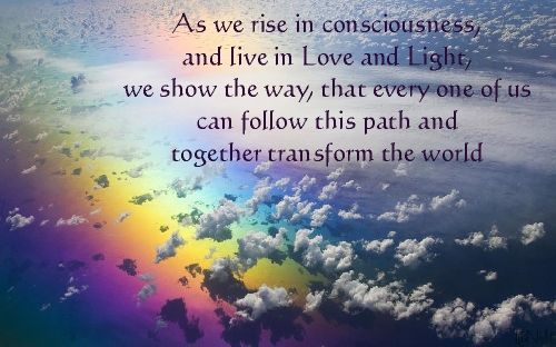 As we rise in consciousness...