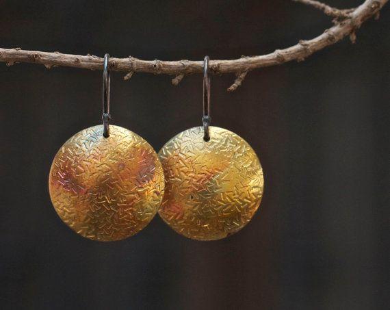 Kupfer Ohrringe Landhaus Kupfer Ohrringe von FlowerOfParadise