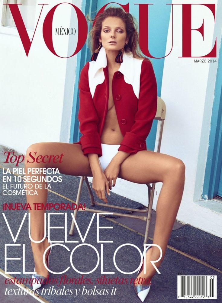 Vogue Mexico March 2014 Photographer: Koray Birand Stylist: Sarah Gore-Reeves Hair: Felix Fischer Makeup: Angie Parker Model: Eniko Mihalik