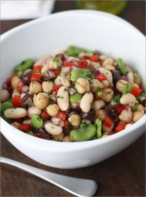 Mediterranean Bean Salad by mediterrasian #Bean_Salad
