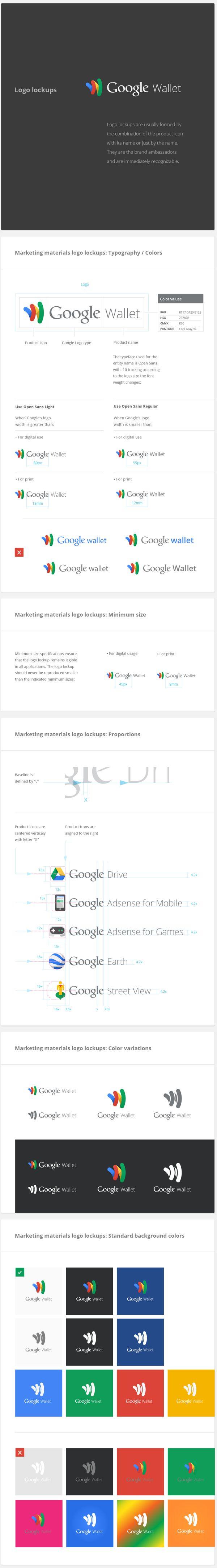 Google Logo Lock-Up Guidelines | service line descriptors, visual identity, logo lock-ups, brand management | #iheartbrand