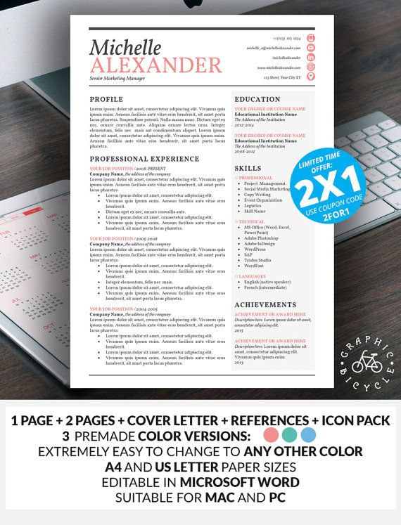 10 best Professional Resume Templates images on Pinterest Cover - resume design templates