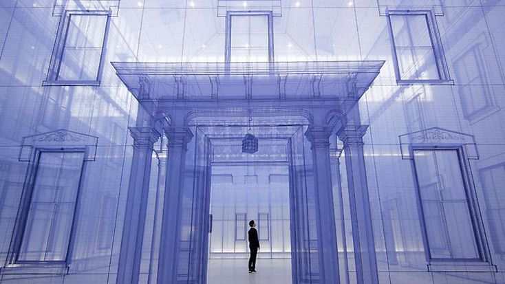 Do Ho Suh constructs a home within a home at the Museum of Modern and Contemporary Art, Seoul, Korea.  MMCA (Seoul, Korea)
