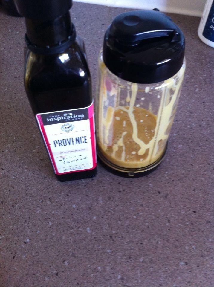 HONEY MUSTARD VINAIGRETTE   2 tbsp white vinegar 3 tbsp Dijon mustard 2 tbsp honey 2 tbsp Any YIAH olive oil ( I used PROVENCE)   Mix all ingredients together ( I used my bullet blender) but a jar would work
