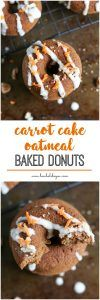 Cake and donuts just make sense. So carrot cake donuts for the win! Made with wholesome oat flour, these gluten free goodies will be your favorite new breakfast! Bewholebeyou.com