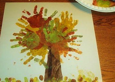 pintura com palma de mão criança