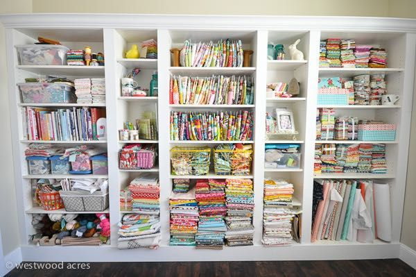 36 best images about quilt studio inspiration on pinterest fat quarters ironing board tables - Organizing craft supplies in a small space collection ...