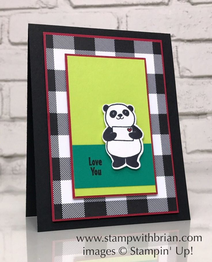 Party Pandas, Merry Little Christmas Designer Series Paper, Stampin' Up!, Brian King