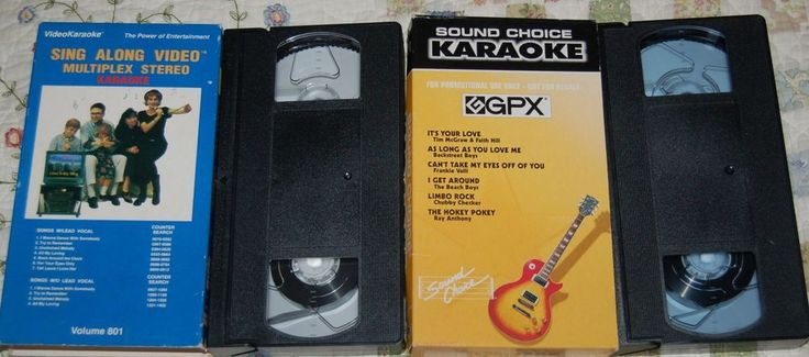Two Karaoke VHS (One is a Sound Choice VHS) $9.99 EBAY
