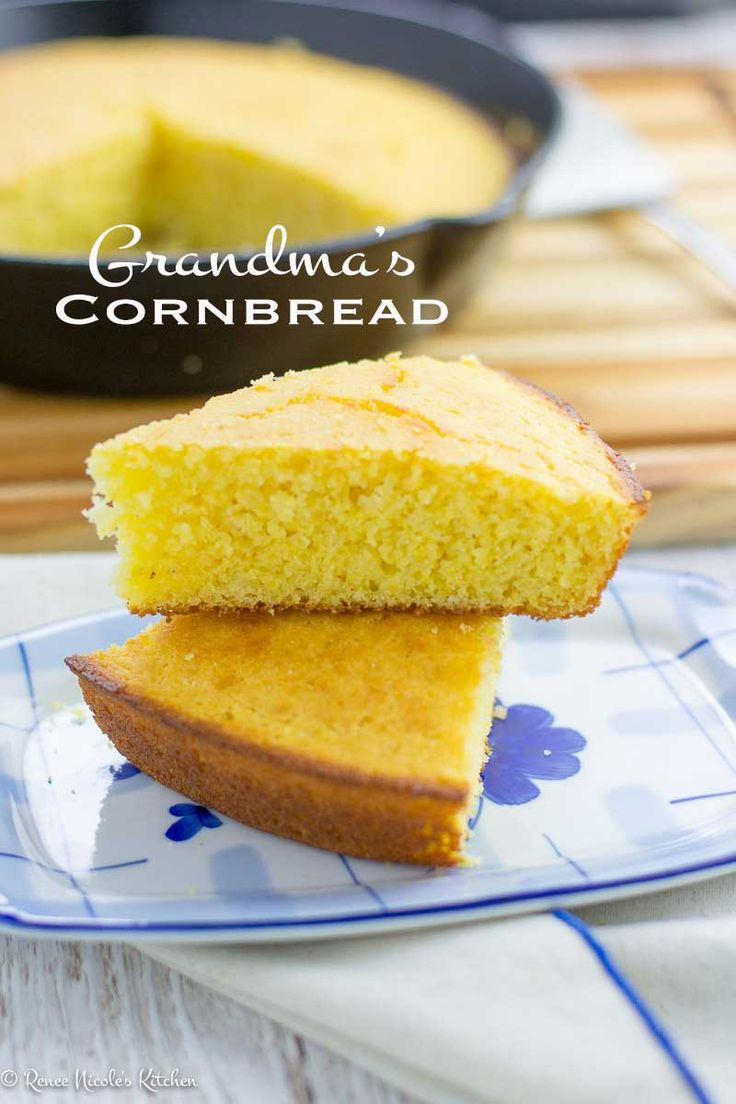 Grandma's Cornbread. Slightly sweet with a tender, moist crumb. A 1951 original from Better Homes and Gardens cookbook, passed down through generations.