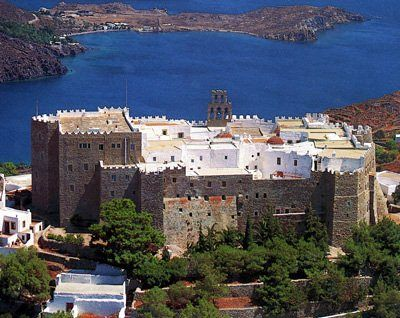 Patmos. Monastery St John, the Theologian, the Divine, Ayios Ioannis Theologos.