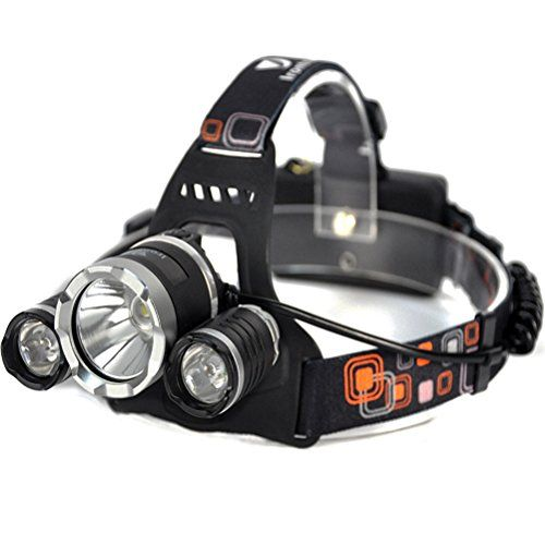 Irontria Led Headlamp High Power Bright Headlight 3 CREE XML T6 LED with Rechargeable Batteries Wall Charger for Hiking Camping Riding Fishing Hunting -- Want to know more, click on the image.
