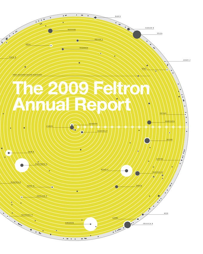 Nicholas Felton.  Since 2005 he has been producing annual yearly reports on his life; filled with all kinds of information about his life complete with some absolutely wonderful information graphics.