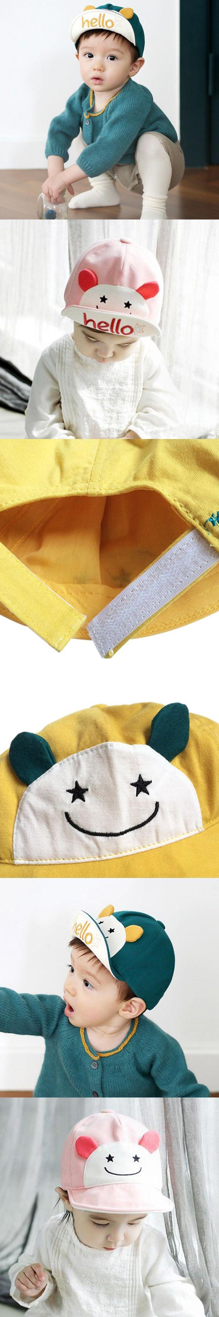 Hello Animal Cartoon Baby Hat Kids Baseball Cap Palm Cute Baby Boy Girl Beanies Soft Cotton Caps Infant Visors Sun Hat