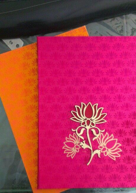 26 best wedding invitation cards images on pinterest invitations lotus theme wedding invitation in fushcia pink stopboris Gallery