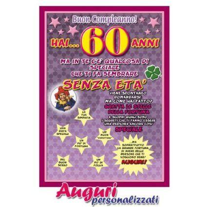 Cartolina compleanno auguri 60 anni