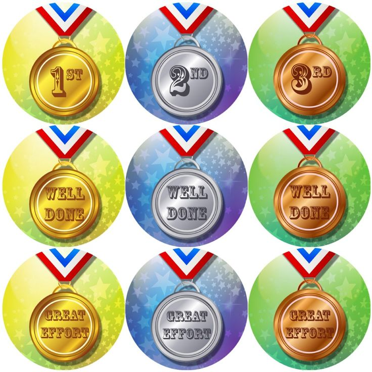 These Sports Day Medals themed reward stickers are perfect to make a big impression and to encourage your pupils to take part in sports day. 144 stickers per pack, 30 mm in size.