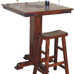Shop For The Sunny Designs Santa Fe Small Square Slate Top Pub Table At Furniture Mart Colorado