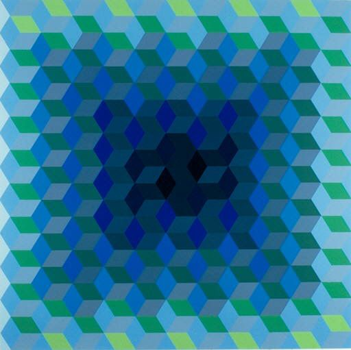 ION, Victor Vasarely, 1969, Purchased with funds from the Museum Purchase Fund