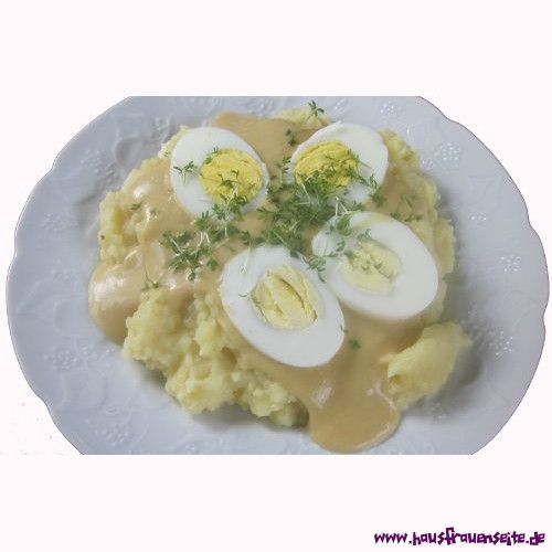 gekochte Eier in Senfsauce - Rezept gekochte Eier in Senfsauce sind schnell und einfach gemacht vegetarisch