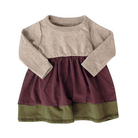 Colour Block Dress - mini mioche - organic infant clothing and kids clothes - made in Canada