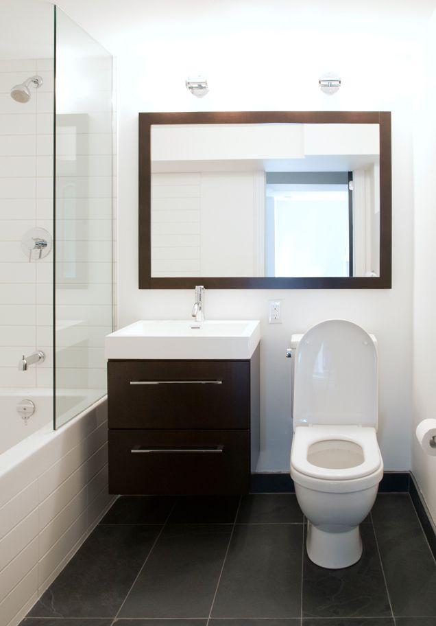 Wood And White Tile Tile Like Ours Slate Floor Bathroom