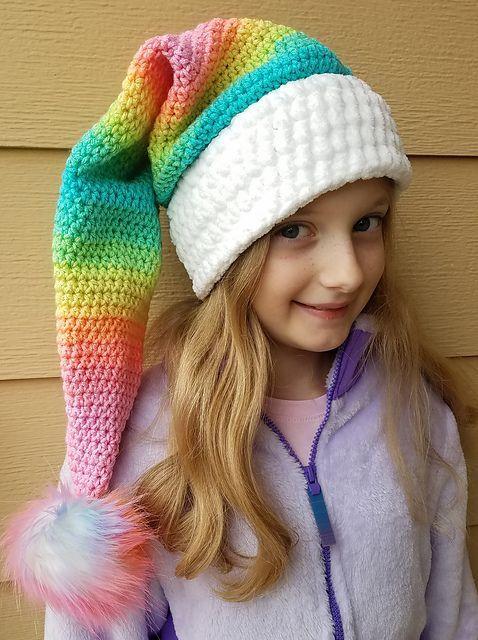 Ravelry Rainbow Santa Hat Pattern By Emmie Sue Designs