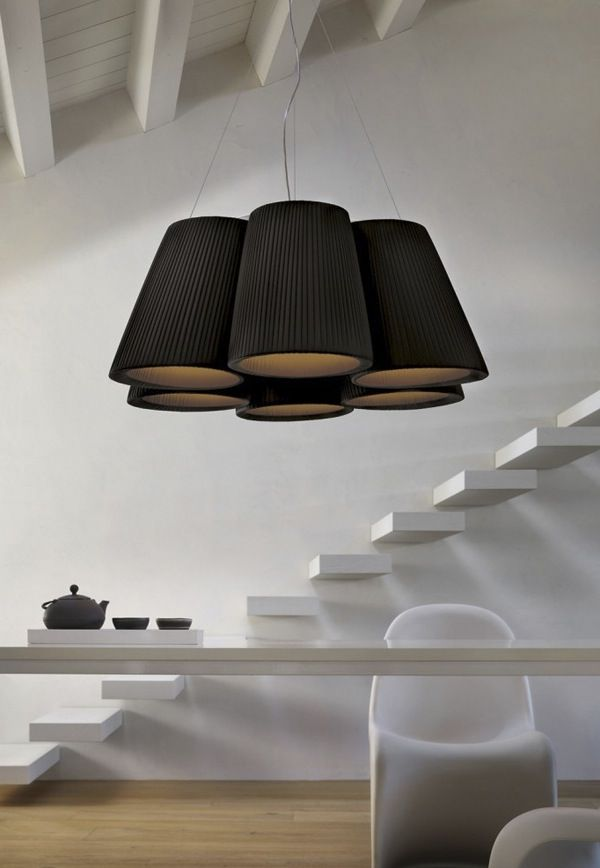 Calm | Minimalist. Floating Stairs. Dining Room. Living Space. Light Fixture. Modern.