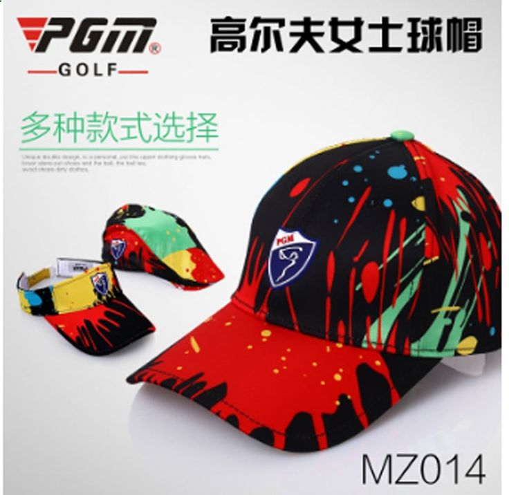 Golf Hat Lady cap Female Sunscreen Breathable Inkball Splash Free Shipping